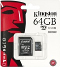 Kingston microSDXC 64GB UHS-I + adaptér SDC10G2/64GB